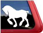 Clydesdale Draft Horse Trailer Window Decal