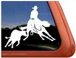 Cutting Horse Horse Trailer Window Decal