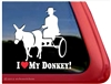 Donkey Driving Window Decal