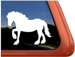 Draft Horse Trailer Window Decal