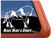 Spotted Draft Horse Trailer Window Decal