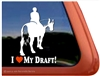 Draft Rider Horse Trailer Window Decal