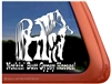 Gypsy Mare & Foal Horse Trailer  Window Decal