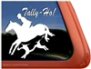 Tally Ho! Foxhunt Horse Trailer Equestrian Window Decal Sticker