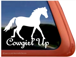 Fox Trotter Horse Trailer  Window Decal