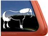 Custom Haflinger Horse Trailer Car Truck RV Window Decal Sticker