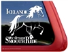 Icelandic Horse Trailer Window Decal