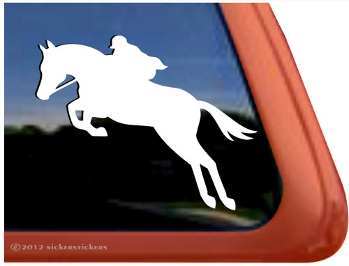 Custom hunter jumper horse trailer rv truck car window decal sticker larger photo email a friend