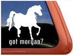 Morgan Horse Trailer Window Decal