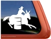 Mule Barrel Racer Window Decal