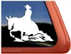 Custom Reining Mule Trailer Car Truck RV Window Decal Sticker