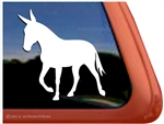 Custom Gaited Mule Trailer Car Truck RV Window Decal Sticker