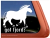 Fjord Horse Trailer Window Decal