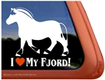 Norwegian  Fjord Horse Trailer Car Truck RV Window Decal Sticker