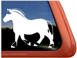Custom Norwegian Fjord Horse Trailer Car Truck RV Window Decal Sticker