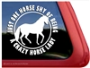 Paso Fino Horse Trailer Window Decal