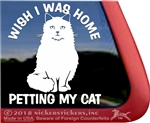 Longhaired Cat  iPad Car Truck Window Decal Sticker