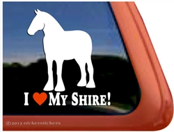 Shire Horse Trailer Window Decal