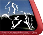Custom Racking Horse Spotted Saddle Horse Trailer Window Decal Sticker