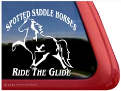 Spotted Saddle Horse Trailer Window Decal
