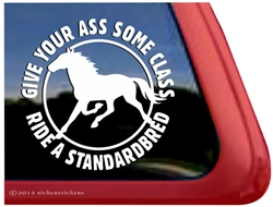 Ride a Standardbred Horse Trailer Car Truck RV Window Decal Sticker