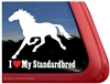 I Love My Standardbred Horse Trailer Car Truck RV Window Decal Sticker