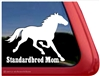 Standardbred Mom Horse Trailer Car Truck RV Window Decal Sticker