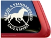 Standardbred Rescue Horse Trailer Car Truck RV Window Decal Sticker