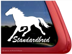Standardbred Horse Trailer Car Truck RV Window Decal Sticker