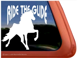 Tennessee Walker Horse Trailer Window Decal