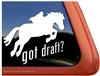 Draft Jumping Horse Trailer Window Decal