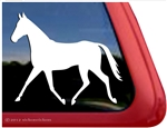 Custom Thoroughbred Horse Trailer Car Truck RV Window Decal Sticker
