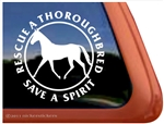 Thoroughbred Horse Rescue Window Decal