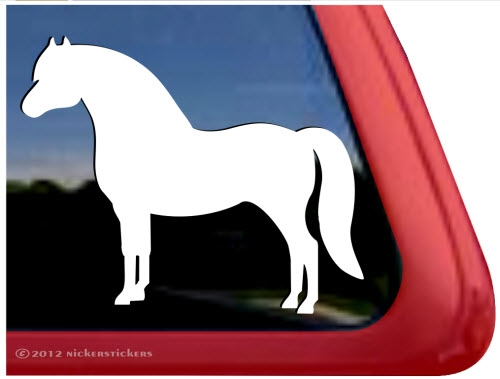 Custom welsh pony horse trailer car truck rv window decal sticker larger photo email a friend