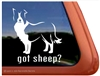 Got Sheep? Border Collie Dog Car Truck RV Window Decal Sticker