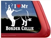 I Love My Border Collie Dog Car Truck RV Window Decal Sticker