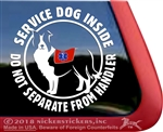 Border Collie Service Dog Window Decal