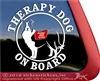 Border Collie Therapy Dog Window Decal