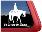 Western Pleasure Horse Trailer Window Decal