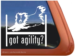 Sheltie Agility Dog Window Decal