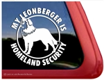 Leonberger Homeland Security Guard Dog Dog iPad Car Truck Window Decal Sticker