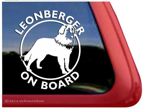 Leonberger on Board Dog Decals & Stickers   NickerStickers