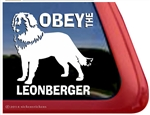 Obey the Leonberger Dog iPad Car Truck Window Decal Sticker