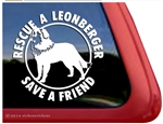Leonberger Resuce Dog iPad Car Truck Window Decal Sticker