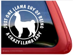 Llama Window Decal