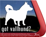 Swedish Vallhund Window Decal