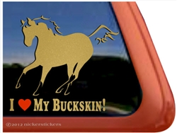 Buckskin Window Decal