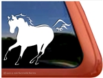 Custom Dun Quarter Horse Trailer Car Truck RV Window Decal Sticker
