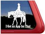 Appaloosa Hunter Under Saddle Horse Trailer Window Decal