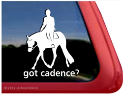 Hunter Under Saddle Horse Trailer Window Decal